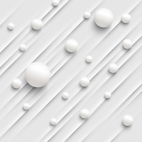 Fondo abstracto colorido con bolas y líneas para publicidad, ilustración vectorial