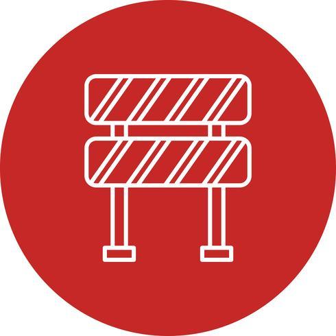 Icono de barrera vector