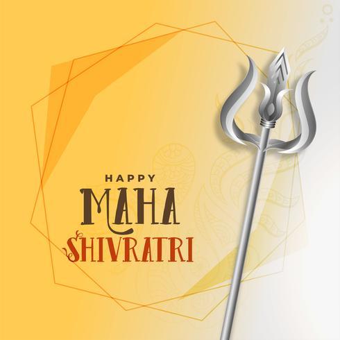 shivratri festival saludo con trishul