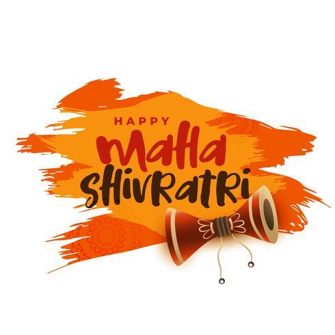maha shivratri hindoe festival groet achtergrond