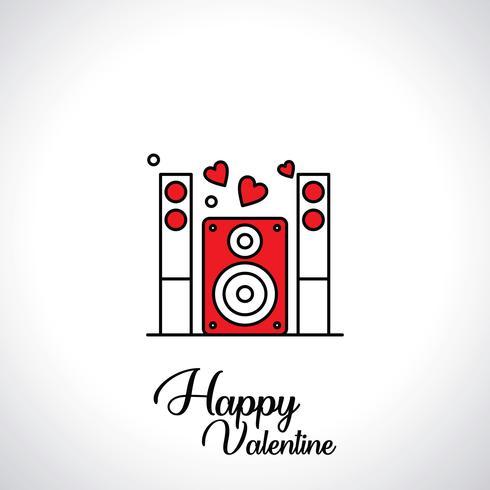 Illustrazione di vettore delle icone di San Valentino