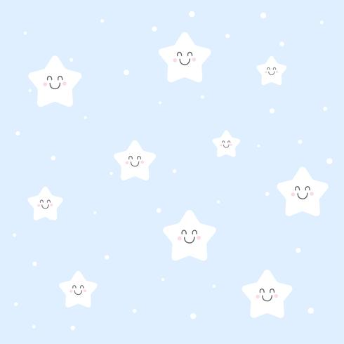 carino sorridente stelle sfondo modello kiddish