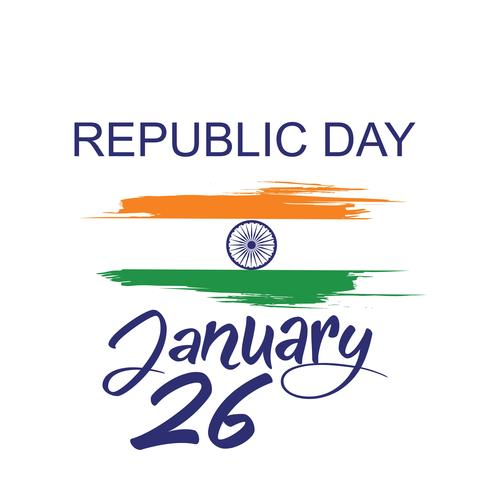 Indian Republic day concept with text 26 January
