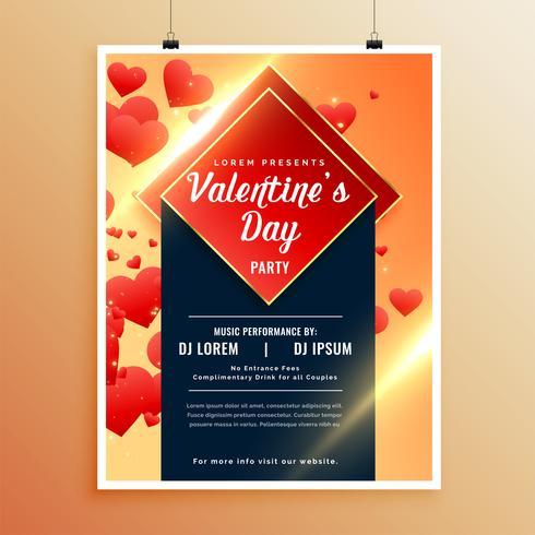 tolle Flyer Vorlage für den Valentinstag