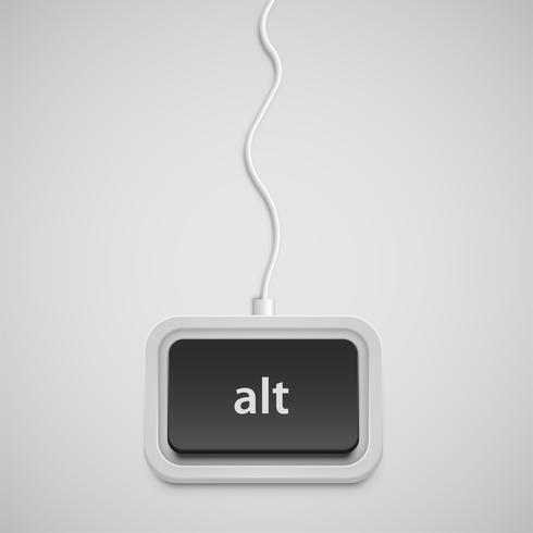 Vereenvoudigd toetsenbord met slechts één knop, vector