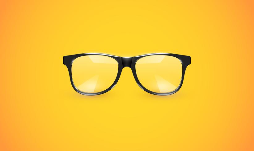 Alti occhiali dettagliati su sfondo colorato, illustrazione vettoriale