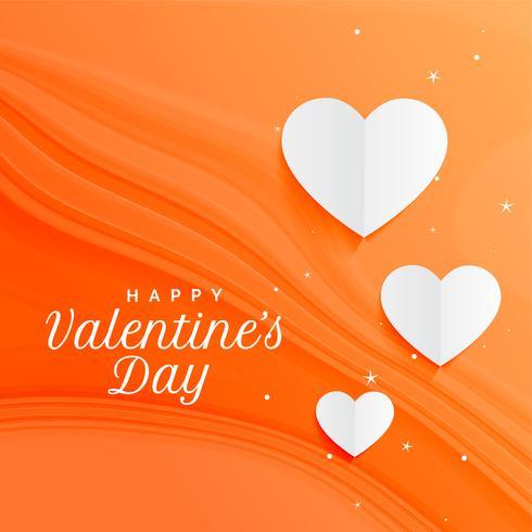 fantastisk orange hjärtan bakgrund för valentines dag