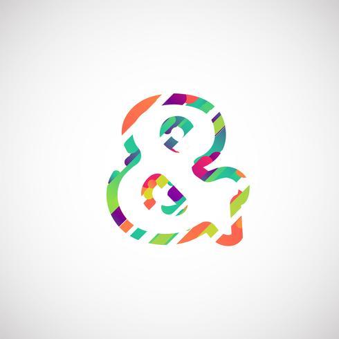 Personagem colorida de um typeset, ilustração vetorial