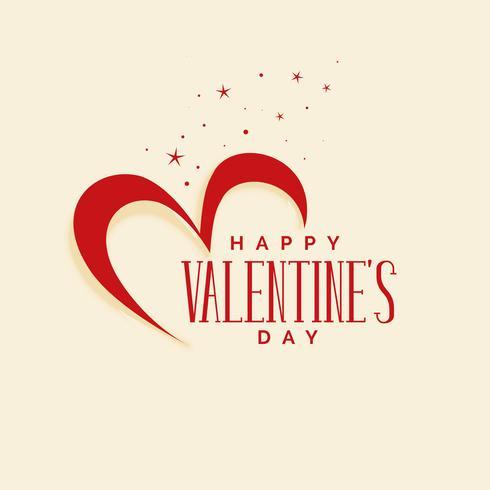 élégant fond de coeurs heureux Saint Valentin