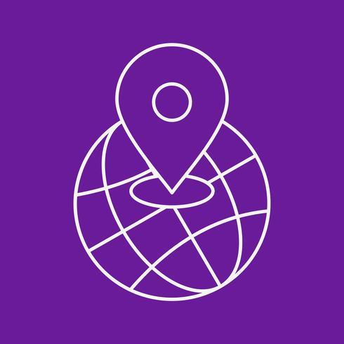 ícone de localização do mundo de vetor