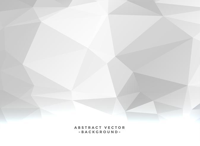 Fondo geométrico blanco de baja poli