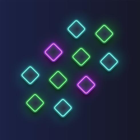Fond de boutons néon très détaillées, illustration vectorielle