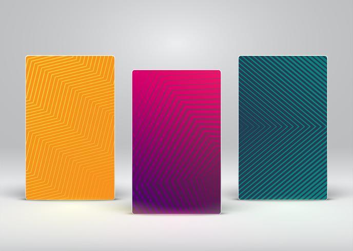 Folheto colorido abstrato / modelo de cartaz, ilustração vetorial