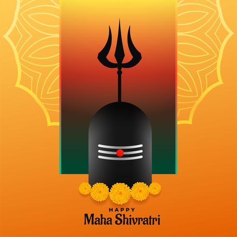 felice maha shivratri festival backgrond con shivling