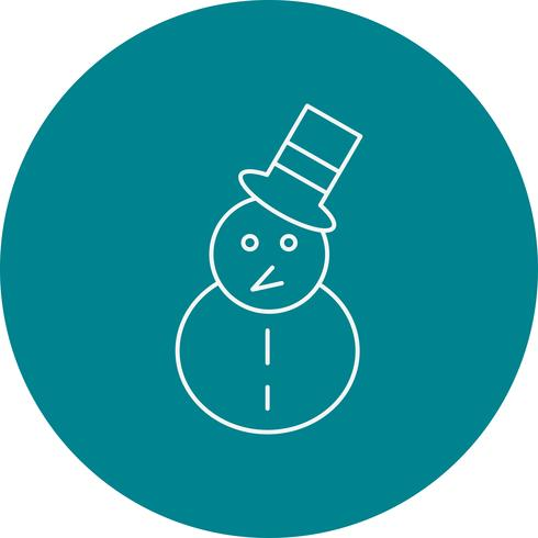 ícone de homem de neve de vetor