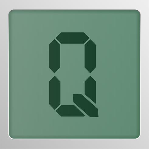 Conjunto de caracteres digital tipo de letra em uma tela, ilustração vetorial