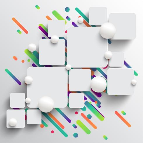 Plantilla dinámica y colorida para la publicidad, ilustración vectorial