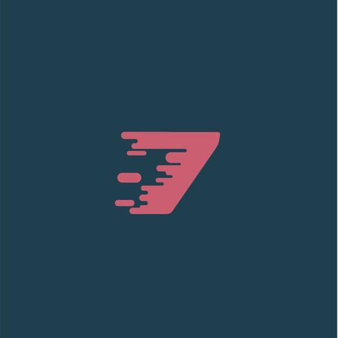 Personaje 'Rush' de una tipografía, ilustración vectorial