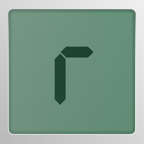Carattere digitale impostare carattere su uno schermo, illustrazione vettoriale