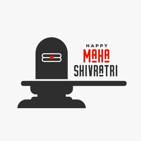 senhor shiva shivling ídolo ilustração para maha shivratri festival