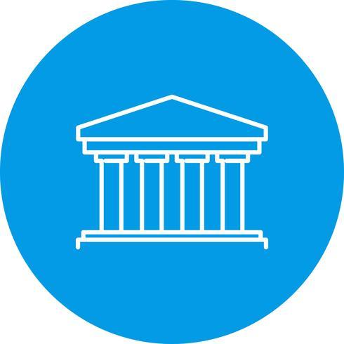 Icono de banco de vector