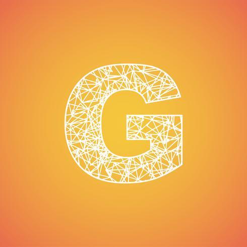 Fuente de red de una fuente tipográfica, vector