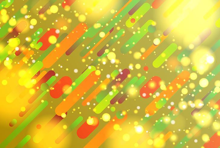 Fondo abstracto colorido con bolas y líneas para publicidad, ilustración vectorial vector