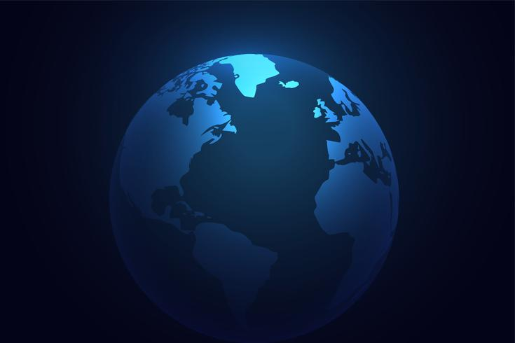 sfondo del mondo pianeta terra blu