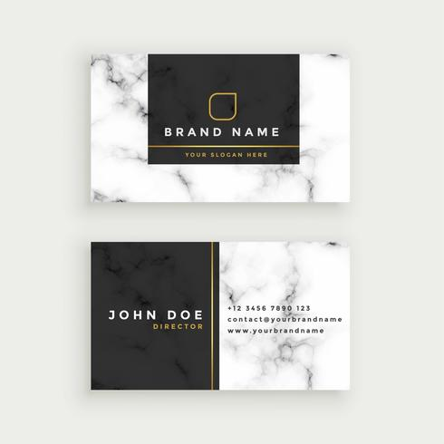 elegante marmeren textuur visitekaartje ontwerp