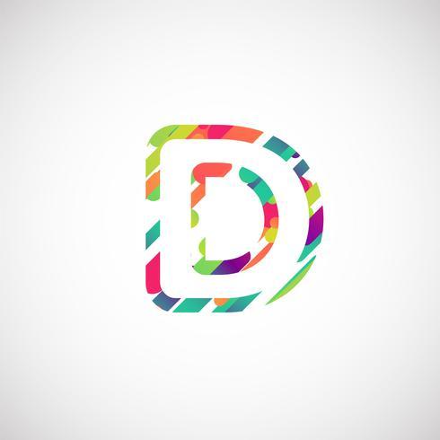 Kleurrijk karakter van een gezet, vectorillustratie