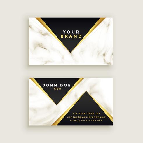 moderno diseño de tarjeta de visita de mármol premium