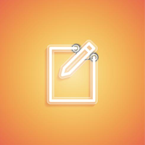 Gloeiend realistisch neonpictogram voor Web, vectorillustratie