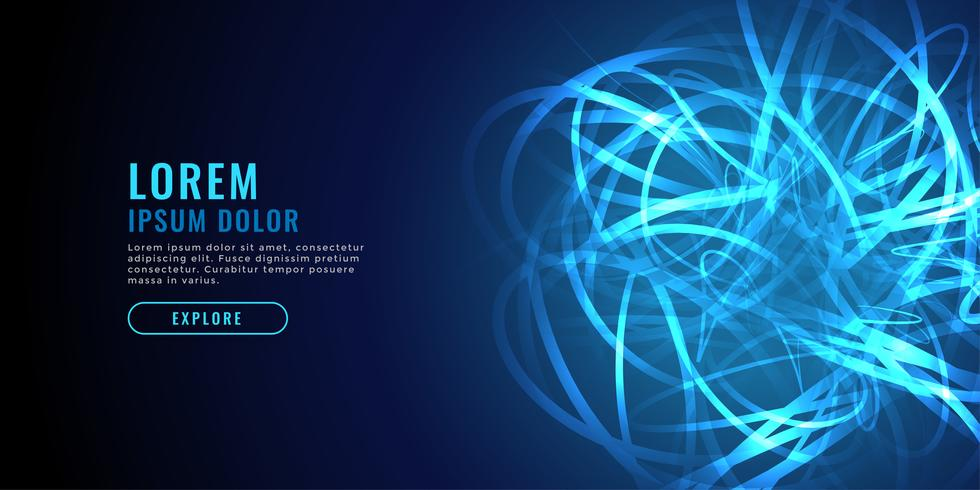 abstract blue chaos line diagram technology background