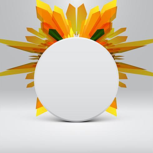 Weiße abstrakte Schablone mit gelbem Pfeilhintergrund, Vektor