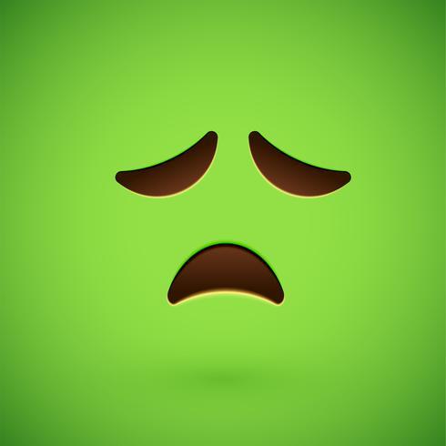 Grünes realistisches Emoticonmileygesicht, Vektorillustration vektor