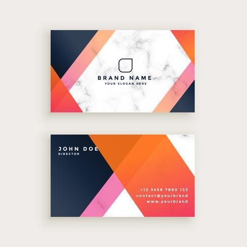 design de cartão de visita de mármore elegante