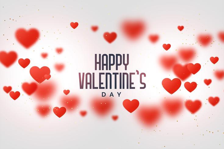 Fondo de amor feliz día de San Valentín con corazones flotantes