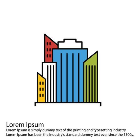 Icono de edificios vectoriales vector