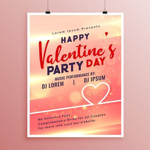 Happy Valentines Day Event Flyer Vorlage Design