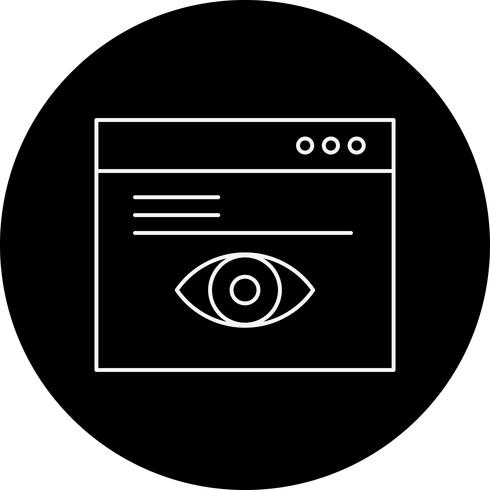 icono de navegador de vectores