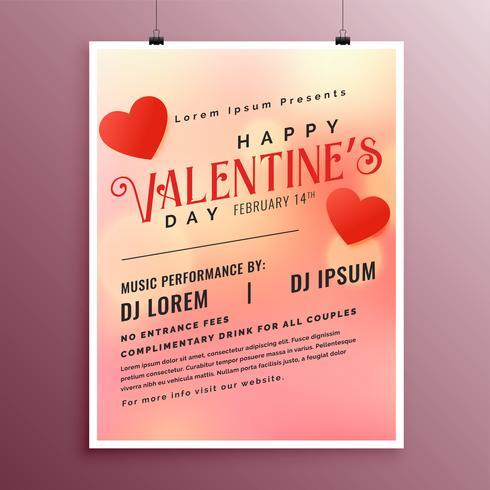 Happy Valentines Day Party Gruß Flyer Vorlage