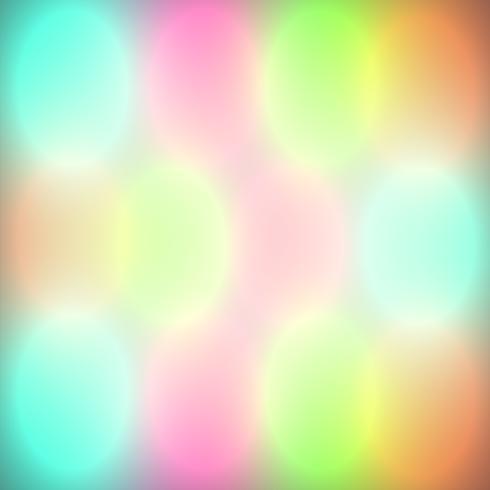 Luces de bokeh coloridas brillan, ilustración vectorial vector