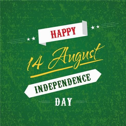 Feliz día de la independencia 14 de agosto Pakistán Tarjeta de felicitación vector