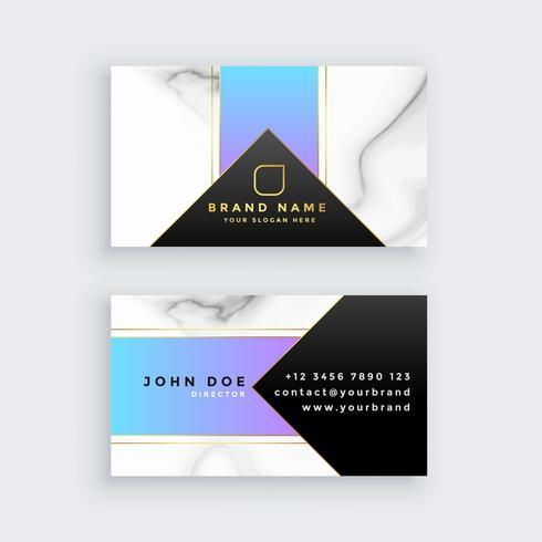 tarjeta de visita geométrica creativa textura de mármol