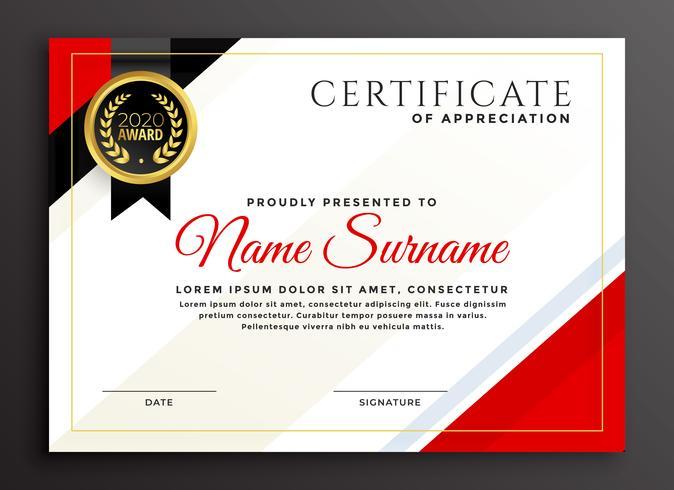 elegantes Diplom Zertifikat Design
