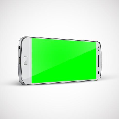 Realistische, hoog-gedetailleerde cellphone, vectorillustratie