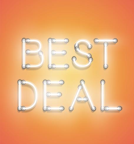 """""""Best Deal"""" - Realistische Leuchtreklame, Vektor-Illustration"""