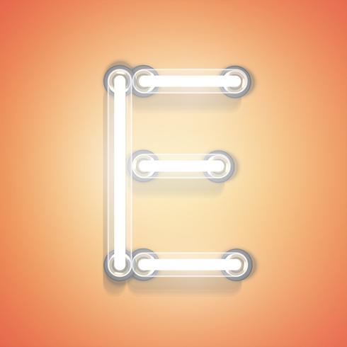 Realistisch neon van een reeks, vectorillustratie