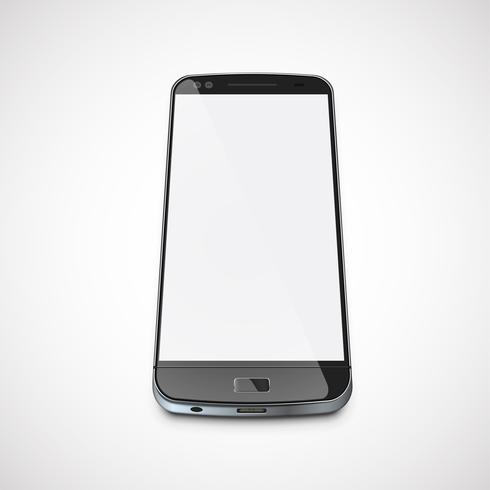Realistic, high-detailed cellphone, vector illustration