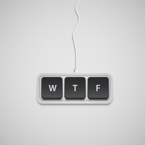 Förenklat tangentbord med endast ett ord, vektor